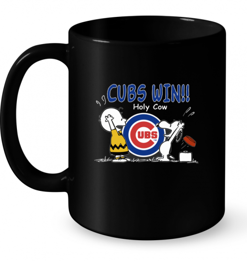 Cubs Win Holy Cow Snoopy Mug