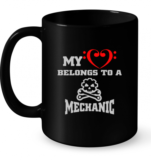 My Belongs To A Mechanic Mug