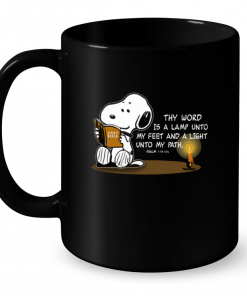 Thy Word Is A Lamp Unto My Feet And A Light Unto My Path Snoopy Mug