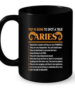 Top 10 Signs To Spot A True Aries Mug