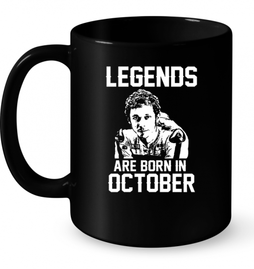 Legends Are Born In October (Valentino Rossi VR46) Mug