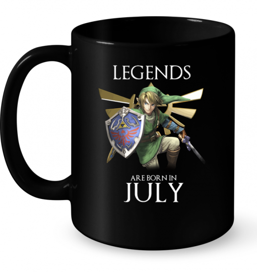 Legends Are Born In July (Zelda) Mug