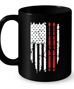 Drumsticks On American Flag Mug