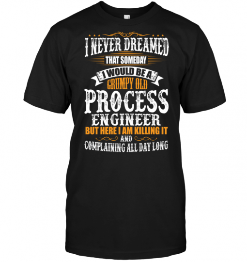I Never Dreamed That Someday I Would Be A Grumpy Old Process Engineer But Here I Am Killing It