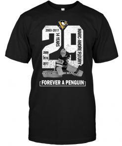 2003-2017 14 Years Marc Andre Fleury 29 Forever A Penguin