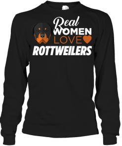 Real Women Love Rottweilers Long Sleeve