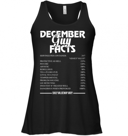 December Guy Facts 24/7 %Daily Value Servings Per Container Protective As Hell 155% Psychic 120% Tank