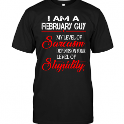 I Am A February Guy My Level Of Sarcasm Depends On Your Level Of Stupidity
