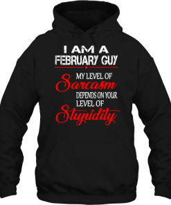 I Am A February Guy My Level Of Sarcasm Depends On Your Level Of Stupidity Hoodie
