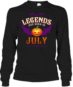 Halloqueen Legends Are Born In July Long Sleeve