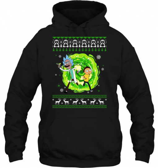 Rick and Morty Ugly Christmas Hoodie