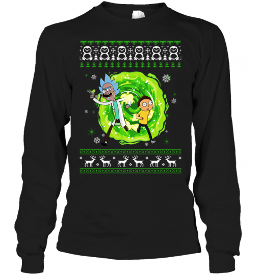 Rick and Morty Ugly Christmas Long Sleeve