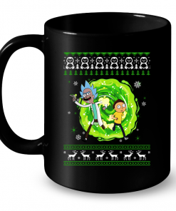 Rick and Morty Ugly Christmas Mug