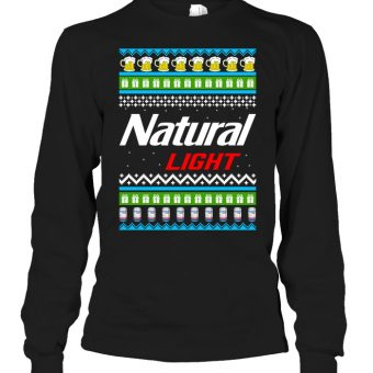 Natural Light Ugly Christmas Sweater Shirt Hoodie