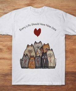 Cat Group Print Every Life Should Have Nine Cats