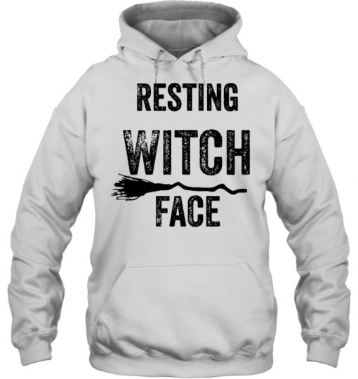 Halloween Resting Witch Face Hoodie