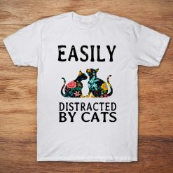 Easily Distracted By Cats White Version