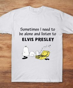 Snoopy Sometimes I Need To Be Alone And Listen To ELVIS PRESLEY