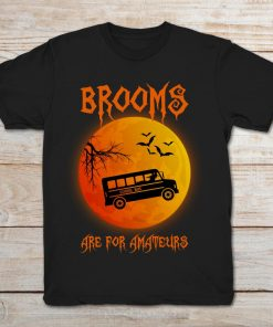 Brooms Are For Amateurs School Bus Halloween