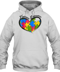 Embrace Differences Heart Hoodie