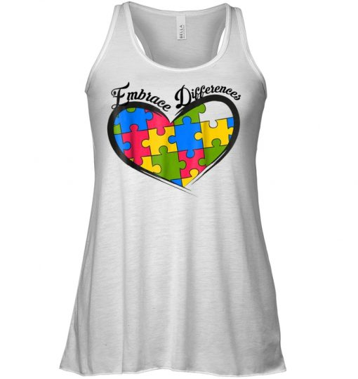 Embrace Differences Heart Hoodie Tank