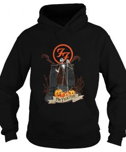 Jack Skellington And Pumpkins Foo Fighters Hoodie