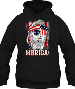 Merica Abe Lincoln 4th of July Hoodie