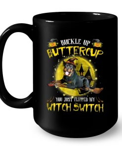 Pitbull Terrier Buckle Up Buttercup You Just Flipped Mug