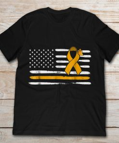 American Flag Childhood Cancer Awareness