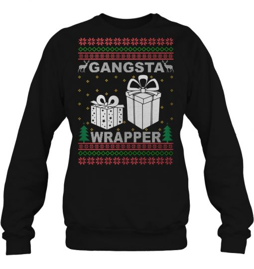 Christmas Gangsta Gifts Wrapper Hoodie