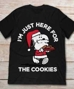 Peanuts Santa Claus Snoopy I'm Just Here For The Cookies