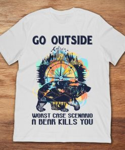 Mountain Wind Rose Compass Go Outside Worst Case Scenario A Bear Kills You
