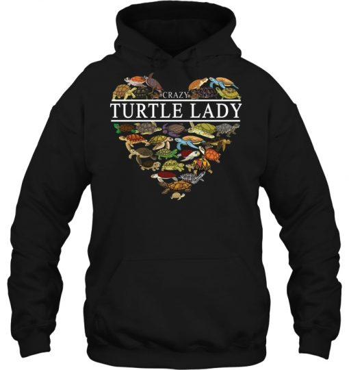 Crazy Heart Turtle Lady Hoodie