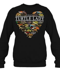 Crazy Heart Turtle Lady Sweatshirt
