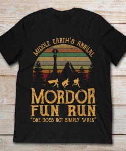 Middle Earth's Annual Mordor Fun Run One Does Not Simply Walk Vintage