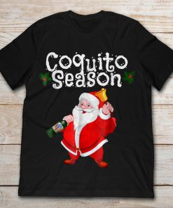 Santa Claus With Wine And Bell Coquito Season