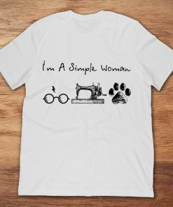 I'm A Simple Woman Harry Potter Sewing Machine Dog Footprint