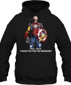 Stan Lee Marvel 1922-2018 Thank You For The Memories Hoodie
