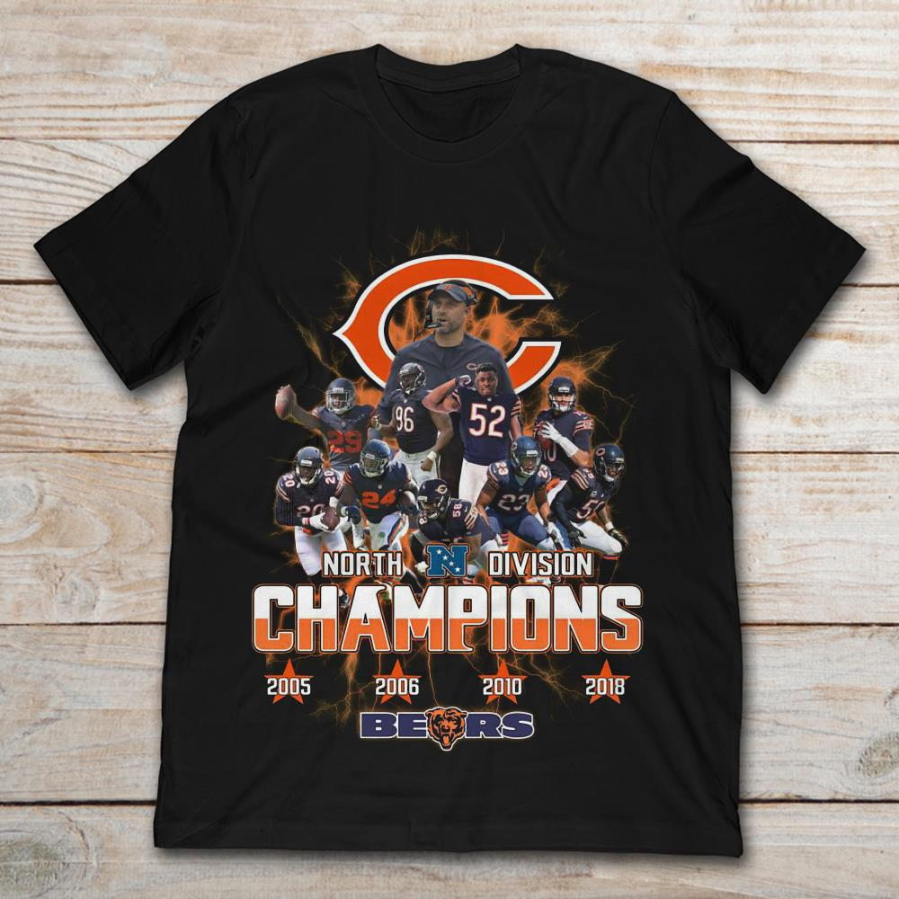 NFC North Division Champions Chicago Bears T-Shirt - TeeNavi a02784e21