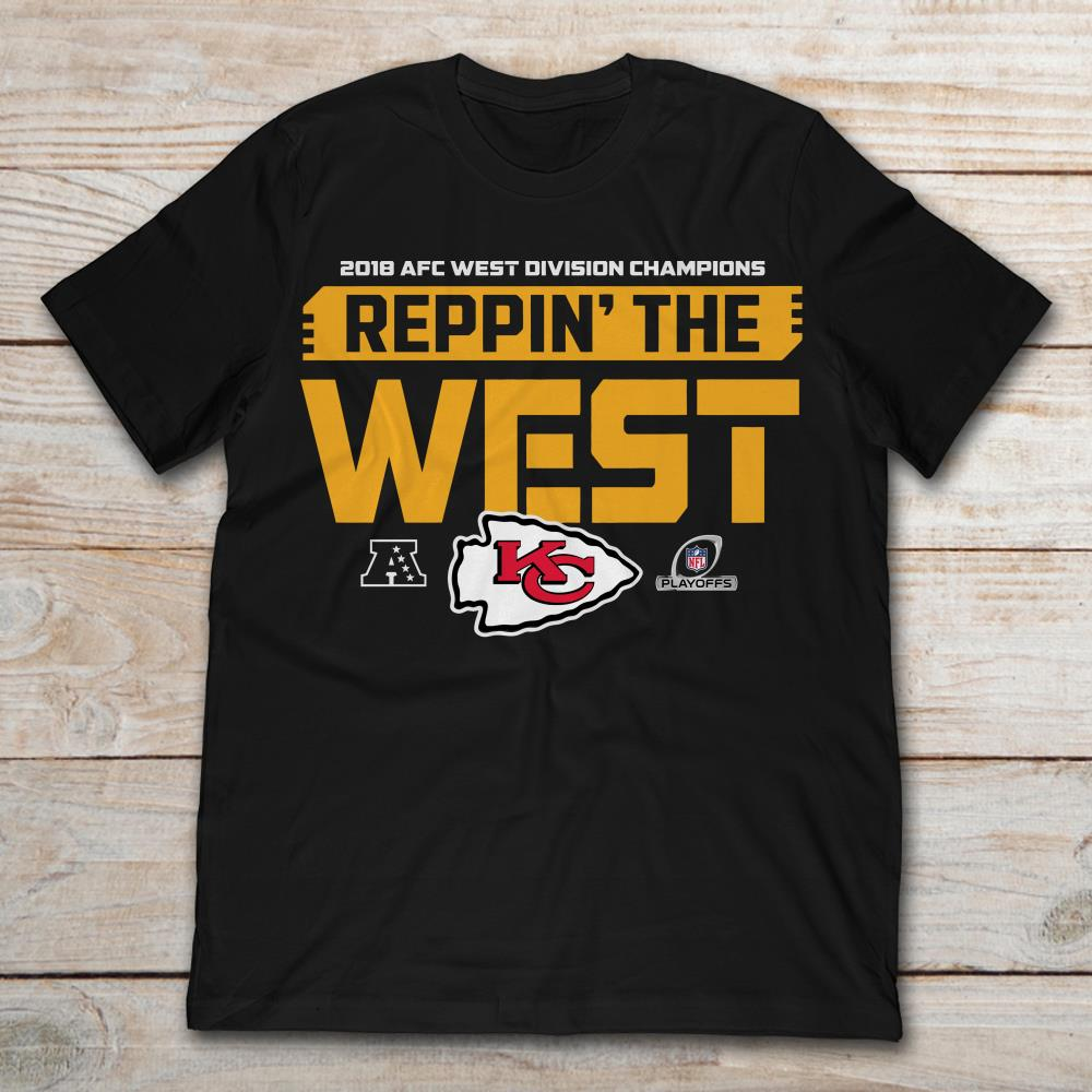 65bbcdd2 Kansas City Chiefs 2018 Afc West Division Champion Reppin The West