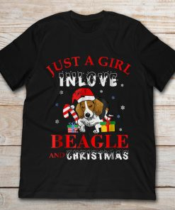 Just A Girl In Love Beagle And Christmas Cute Dog