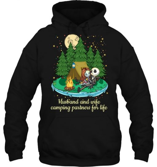Jack Skellington And Sally Husband And Wife Camping Partners For Life Hoodie