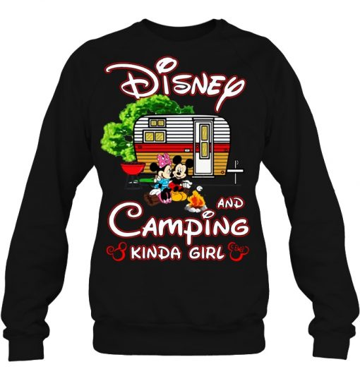 Mickey And Minnie Disney And Camping Kinda Girl Sweatshirt