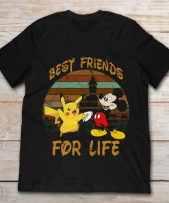 Pikachu And Mickey Mouse Handshake Best Friends For Life