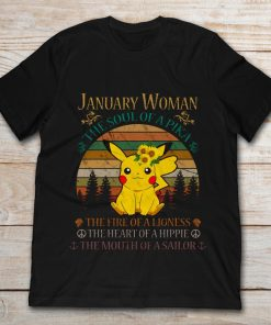 January Woman The Soul Of A Pika Retro Vintage