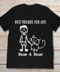Best Friends For Life Name And Name Funny Boy And Cat