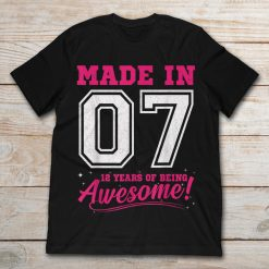 Made In 07 12 Years Of Being Awesome 12th Birthday