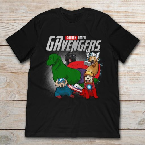 Golden Retriever Grvengers Marvel Avengers Endgame