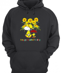 Snoopy Charlie Brown Sunflower Happy Mothers Day Hoodie