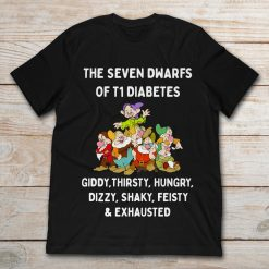 The Seven Dwarfs Of T1 Diabetes Giddy Thirsty Hungry Dizzy Shaky Feisty And Exhausted